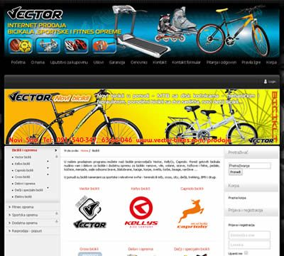Vector – bicikli, fitnes i sportska oprema