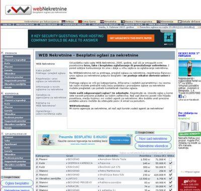 WEB Nekretnine