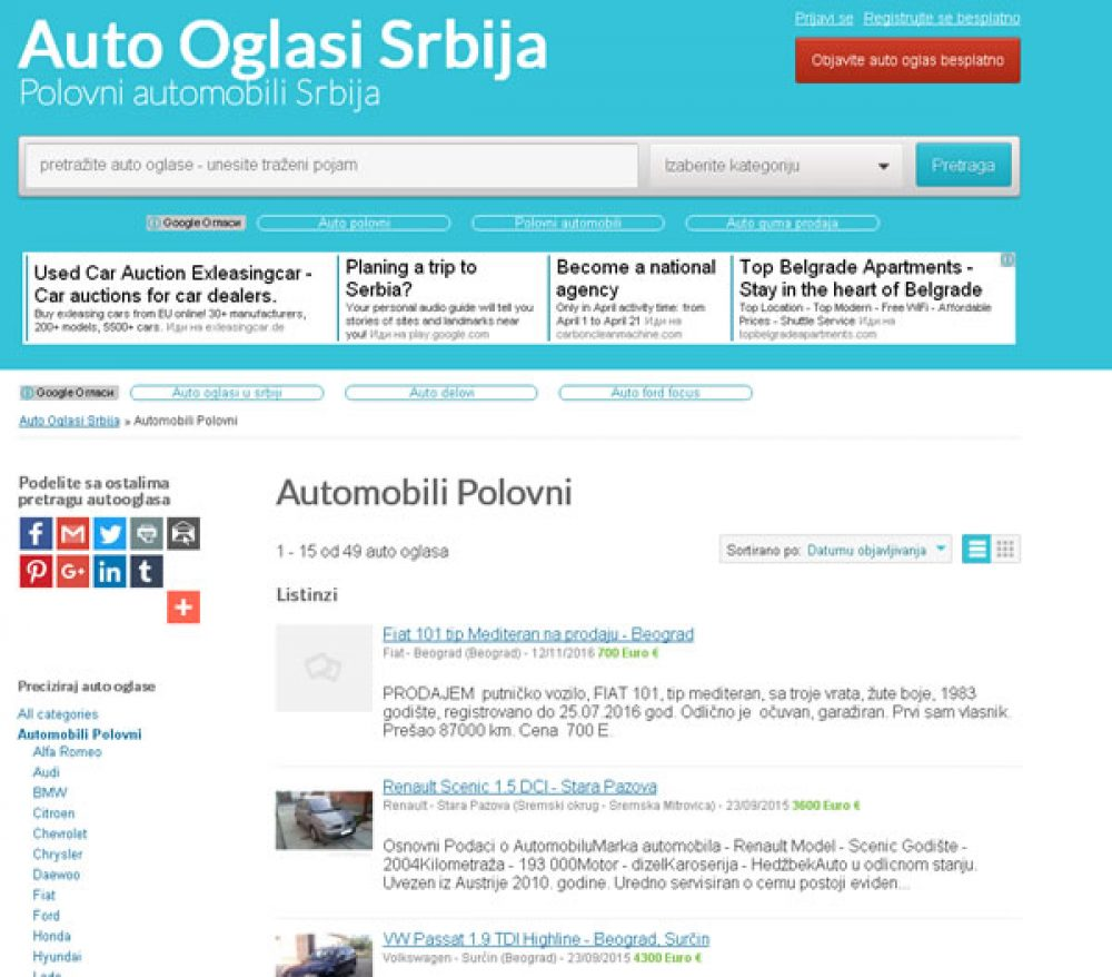 Auto Oglasi Srbija | Netvodic Plus