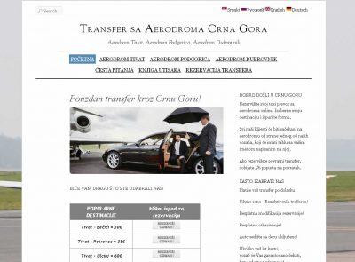 Taxi Transfer sa Aerodroma Crna Gora