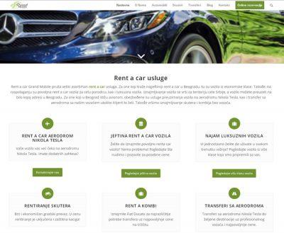 Rent a car Grand Mobile sajt